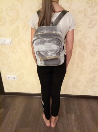 Petite Velvet Designer Backpack Soft Backpack*