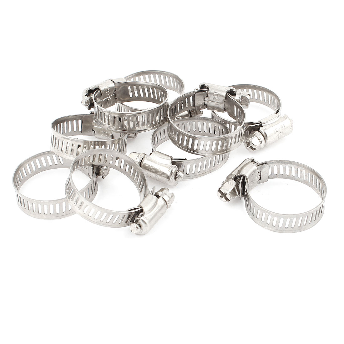 Uxcell Hose Clamp Cable Pipe Fitting Metal Adjustable Worm