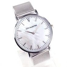 Бренд кварцевые часы дамы водонепроницаемый кожа часы моды романтичная женщина часы Relogio Faminino Montre Femme