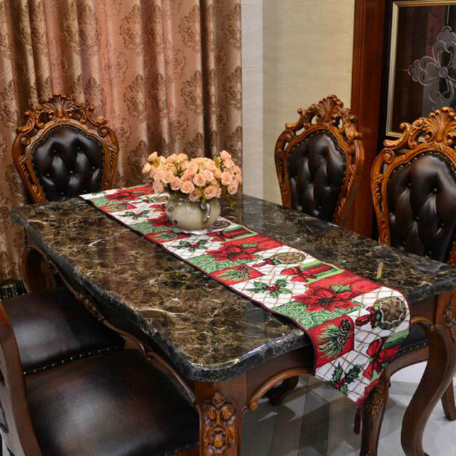 Christmas Style Table Runner For Wedding Bed Runner New Year Christmas Table  Decoration Tapestry Table Cloth