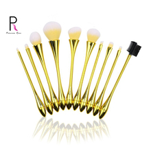 Princess Rose 10 Water Droplets Small Waist Makeup Brushes Professional Make Up Brush Set Yellow Pincel Maquiagem Brochas