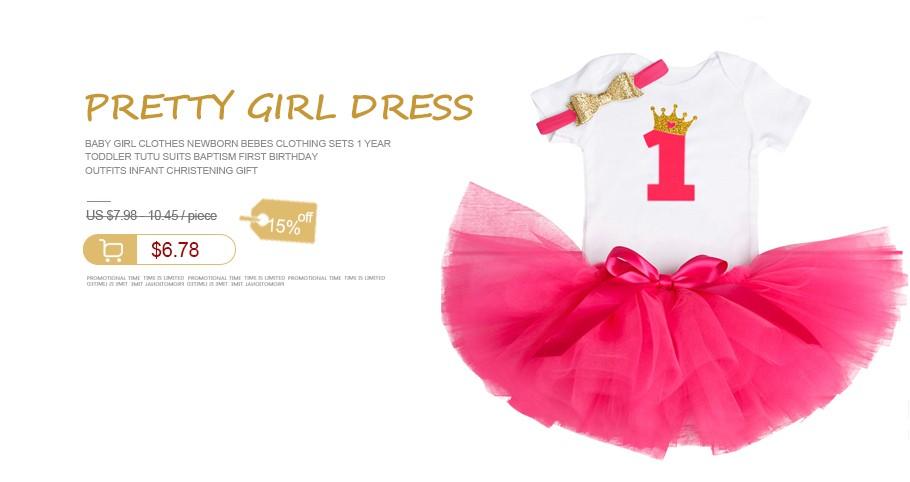 e855c9965b88 Toddler Kids Party Dress For Girl Baptism Infant Children ...