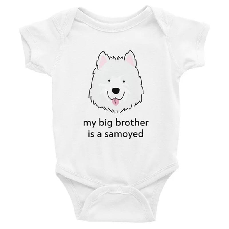 U88oi-8 Short Sleeve Cotton Rompers for Baby Girls Boys Fashion Cute Hippos Hugging Crawler