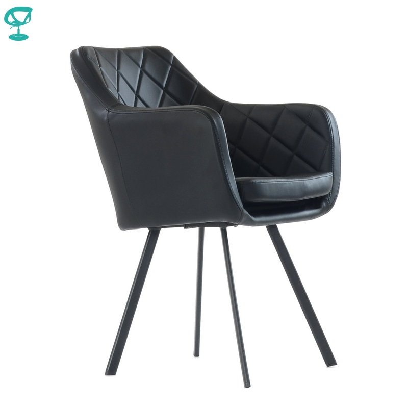 K20L1PuBlack Barneo K-20 Eco-Skin Interior Lounge Chair Kitchen Furniture Metal Legs Vintage Gray Free Shipping In Russia