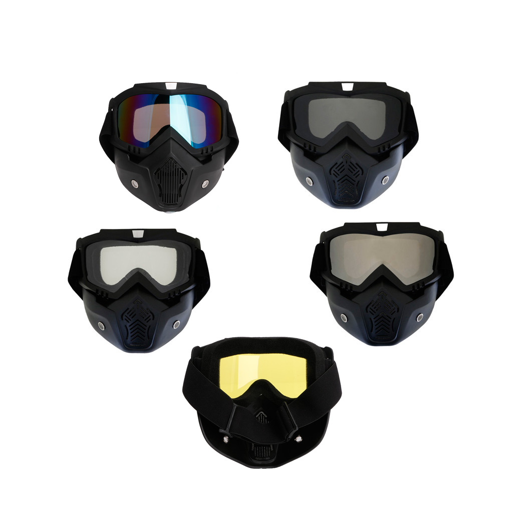 2017 New Motocross Goggles Face Glasses Dust Mask With Detachable Motorcycle Glasses