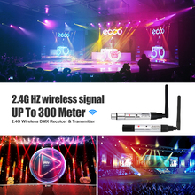 DMX512 Dfi DJ Disco 2.4G Wireless Transmitter light control 2.4G ISM DMX Wireless Receiver for LED lights Stage Light PAR Light rasha 1pc wireless transmitter dmx wifi wireless transmitter for led battery powered wireless led par light new model