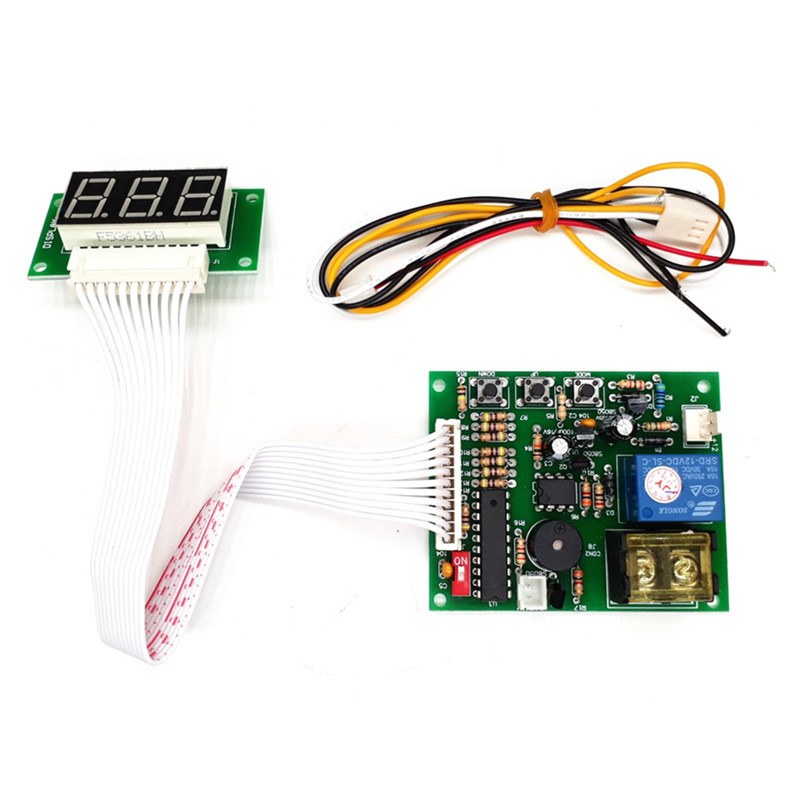 with  40 cm white lead 3 digits timer board coin operated Timer Control Board Power Supply for coin acceptor selector