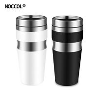NOCCOL Fashion Double Stainless Steel Cup For Car With Lid High Quality Eco Friendly Adults Drink
