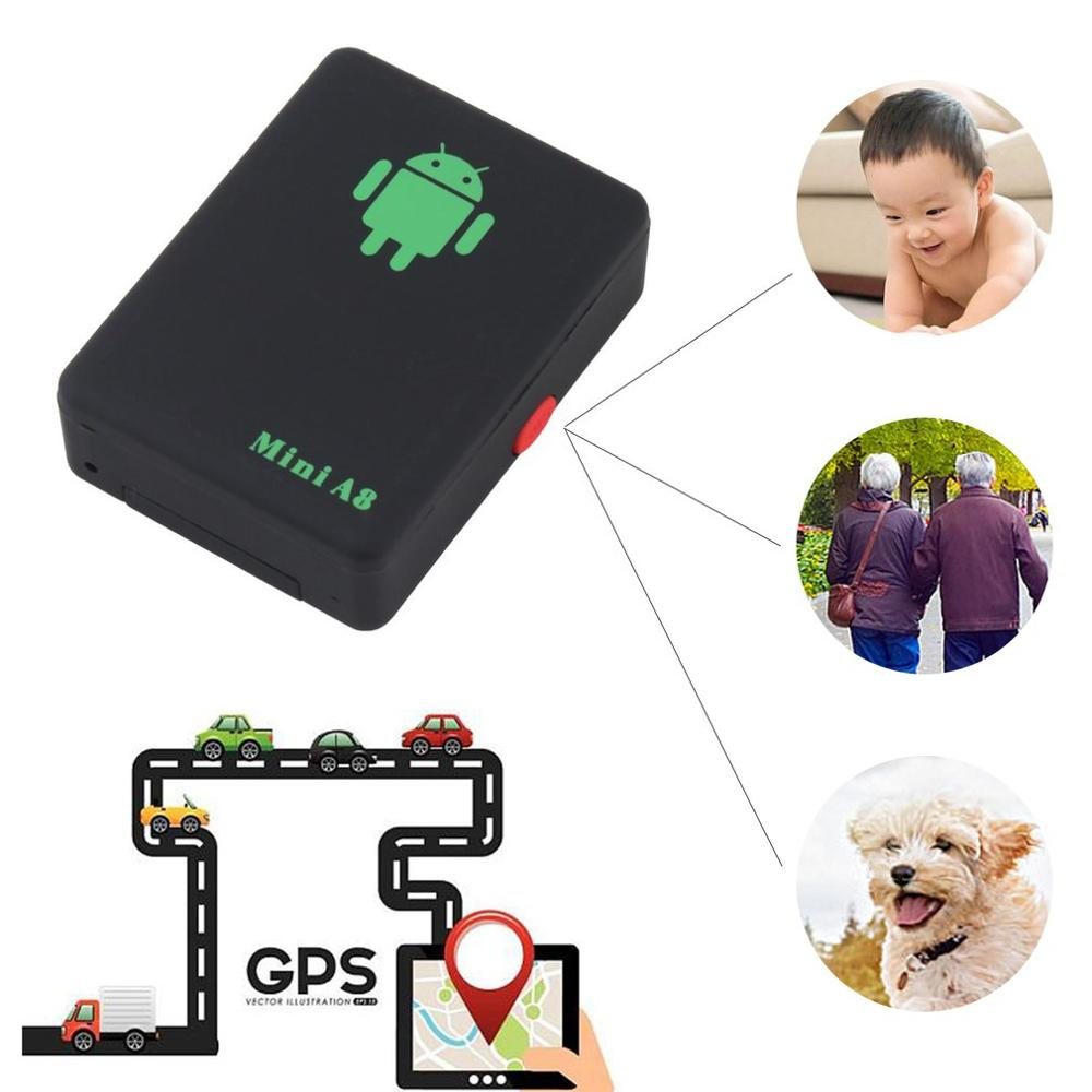A8 Mini GSM/GPRS Tracker Global Real Time GSM GPRS Tracking Device With SOS Button for Cars Kids Elder Pets(China)