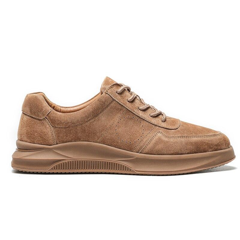 CHAMEAU Printemps D'été Texturé En Cuir Hommes Chaussures à lacets Homme En Plein Air chaussures décontractées Épais Fond de Point De Non-slip Marée chaussures hommes - 5