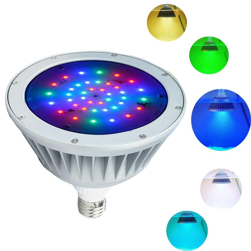 2 Pack of LED Pool Light,120V 40W,RGB Color Changing,IP65 ...