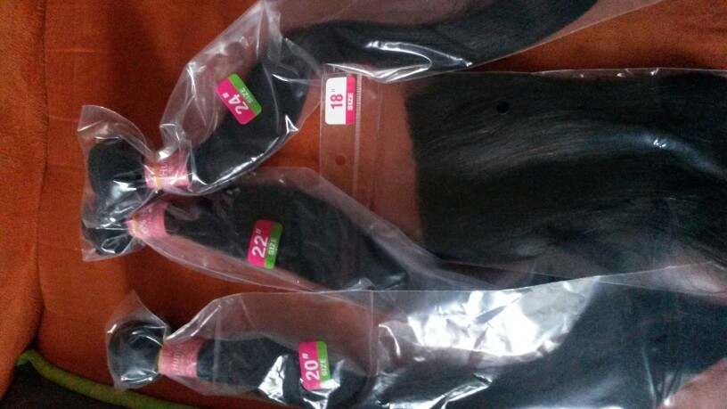 Satai Hair Extension Straight Hair Bundles With Closure Non Remy Human Hair Bundles With Closure Brazilian Hair Weave Bundles