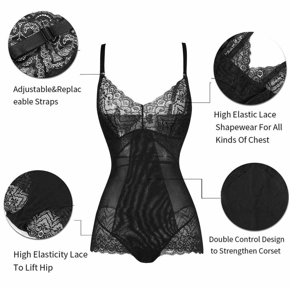 Lover beauty женский сексуальный кружевной боди Черный Глубокий v-образный вырез винтажный обтягивающий Боди Комбинезоны удобные боди A