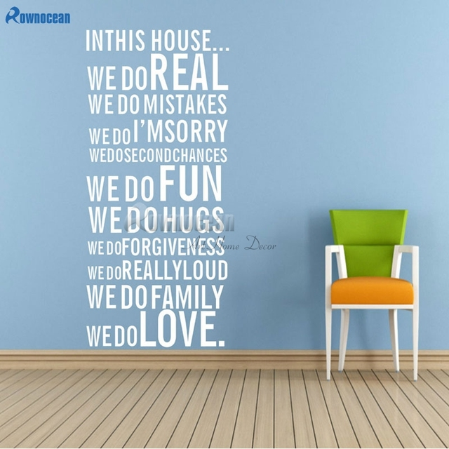 Home Decoration Wall Quote Art Decal Vinyl Sticker Removable Decor Living  Room FAMILY HOUSE RULES PROMISE