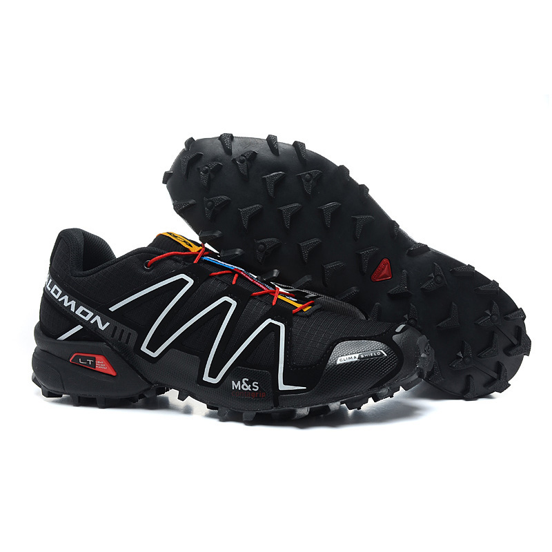 Black Salomon Speed Cross 3 CS III Men Sneakers Durable Running Shoes Breathable Flats Shoes Trainers Black Footwear eur 40-46