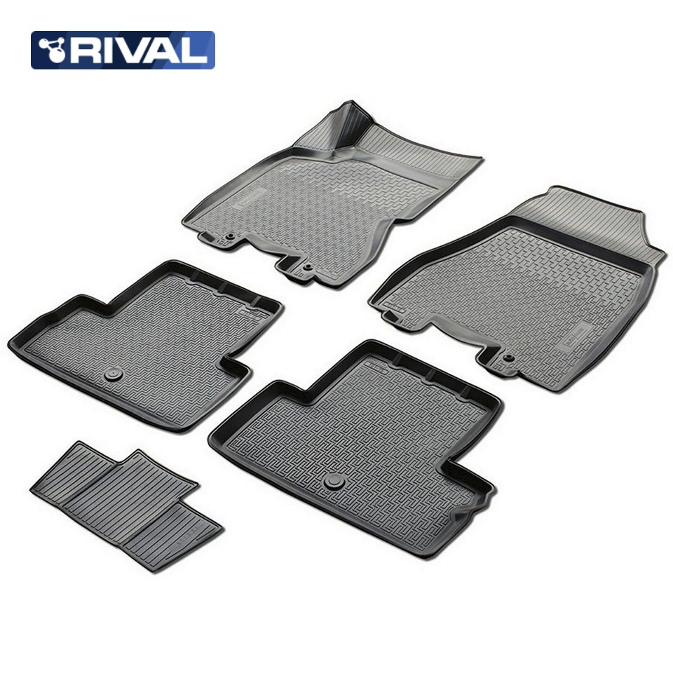 3D floor mats into saloon for Nissan X-Trail T31 2011-2014 5 pcs/set (Rival 14109002) 3d floor mats into saloon for nissan x trail t32 2015 2019 5 pcs set rival 14109001
