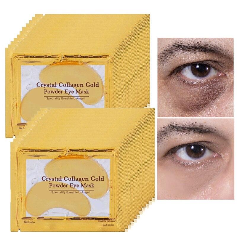100pcs=50packs Hotsale Gold Crystal collagen Eye Mask eye patches