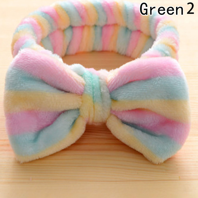 5fdde9a4ca7 Hot 1 pc Sweet Girls Butterfly Knot Flannel Headband Towel Make up Wash  Super Elastic Bands Girls Headwear With 12 Patterns