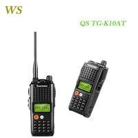 10KM UHF/VHF Audio Comunicador Portable Walkie Talkier QuanSheng TG K10AT FM Two way Radio