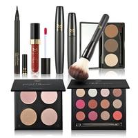 7 Stücke Kosmetik Powder Foundation Pinsel Lidschatten Mascara Eyeliner Make Up Kit