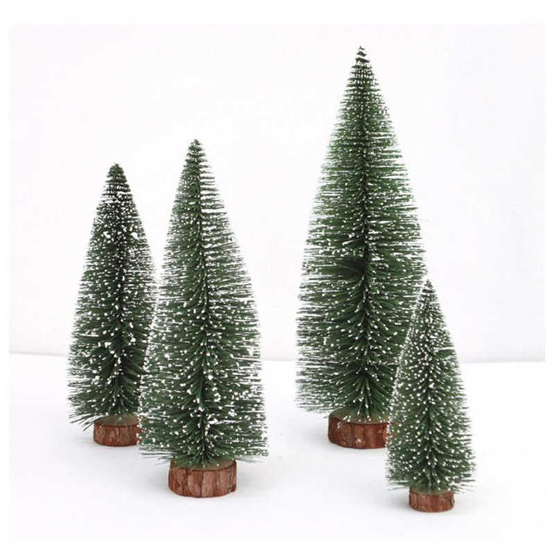 New Arrival Mini Christmas Tree Stick White Cedar Desktop Home Party Decor New Year Gift Christmas home decor 2018 Drop Shipping