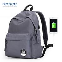 ReeYee korean fashion retro bag canvas backpack women shoulder backpacks preppy style school bags men casual travel bags