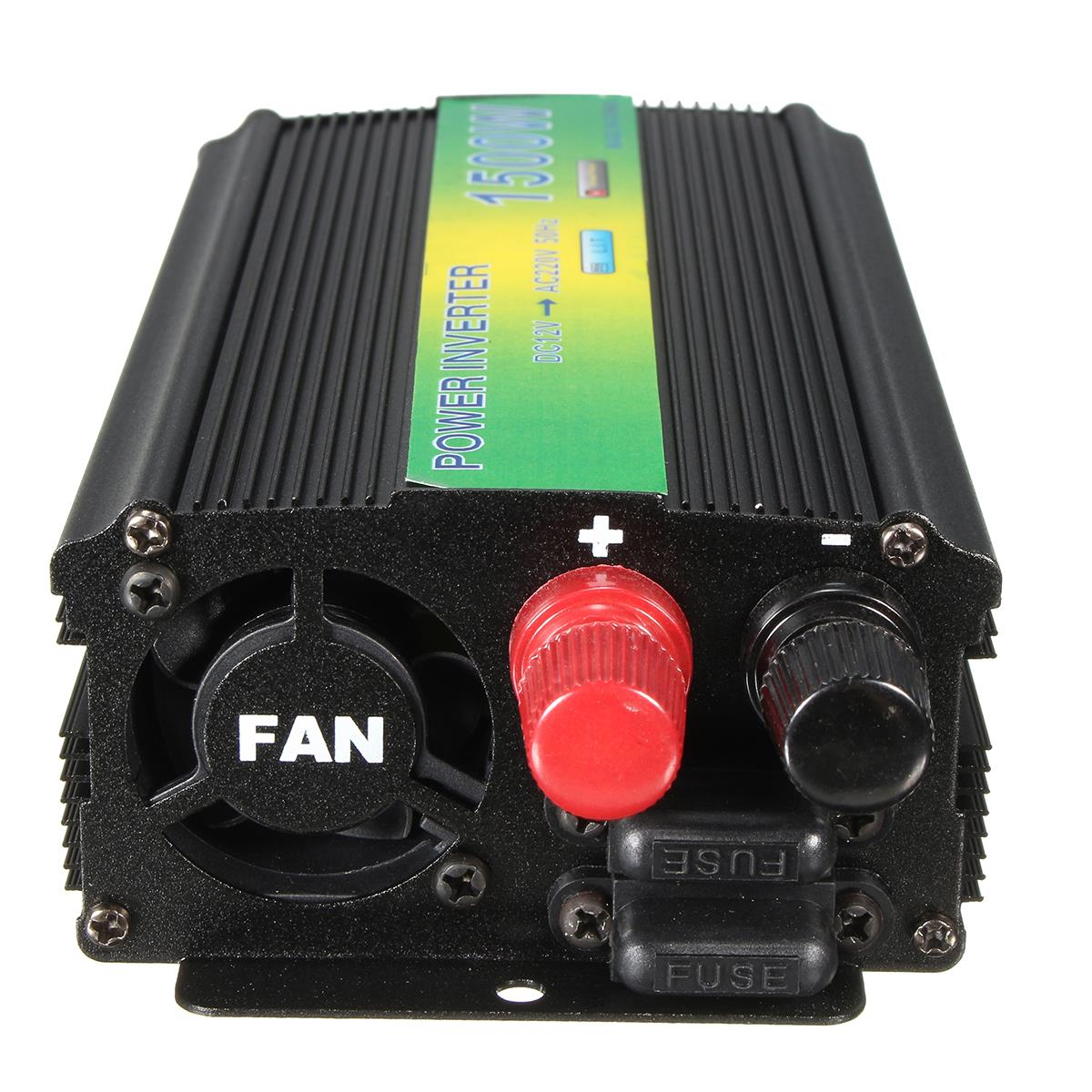 1500W Power Inverter DC 12V To AC 220V Modified Pure Sine Wave Converter USB Charger new acehe 1500w car dc 12v to ac 220v overload protection reverse polarity protection power inverter charger converter