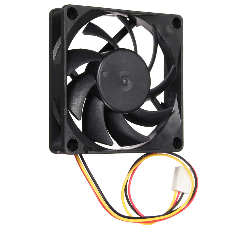 High Quality 70*70*15mm DC 12V 3Pin Computer CPU Cooling Fan Desktop Computer CPU Case Cooling Cooler 7cm Silent Fan delta 12038 12v cooling fan afb1212ehe afb1212he afb1212hhe afb1212le afb1212she afb1212vhe afb1212me