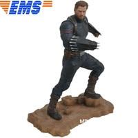 Statue Avengers Infinity War Captain America Bust Shield Full Length Portrait PVC Action Figure Collectible Model Toy Box D841
