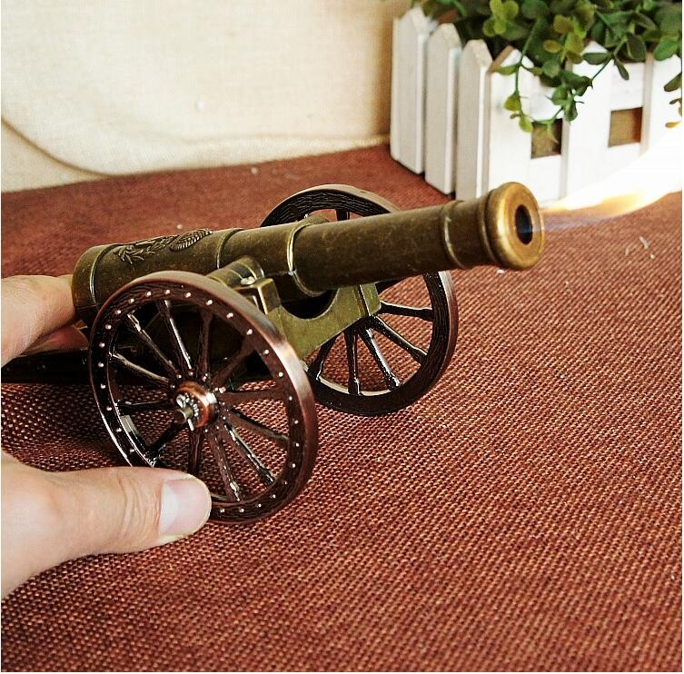 22cm Speed Gun Cannon Model Cigarette Lighter Vintage Home