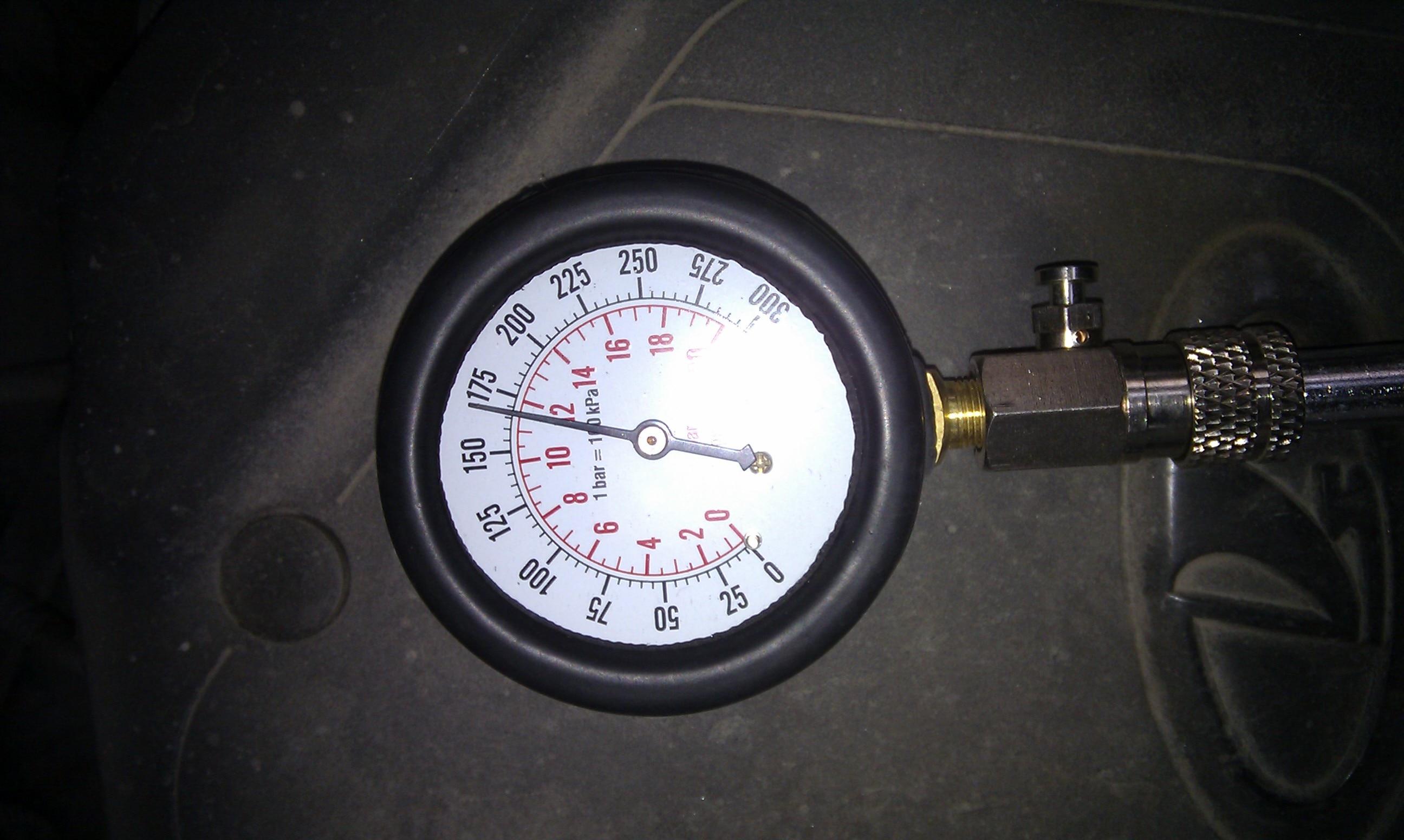 9 PCS Petrol Gas Engine Cylinder Compressor Gauge Meter Test Pressure Compression Tester Leakage Diagnostic