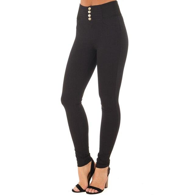 High Elastic Waist Casual Strech Skinny Basic Pant 3