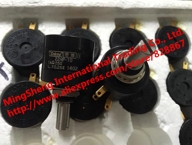 Original New 100% Japan Import 22HP-10 1K 2K 5K 10K 10 Lap Multi Turn Potentiometer 5% L +- 0.25% 2W (SWITCH)