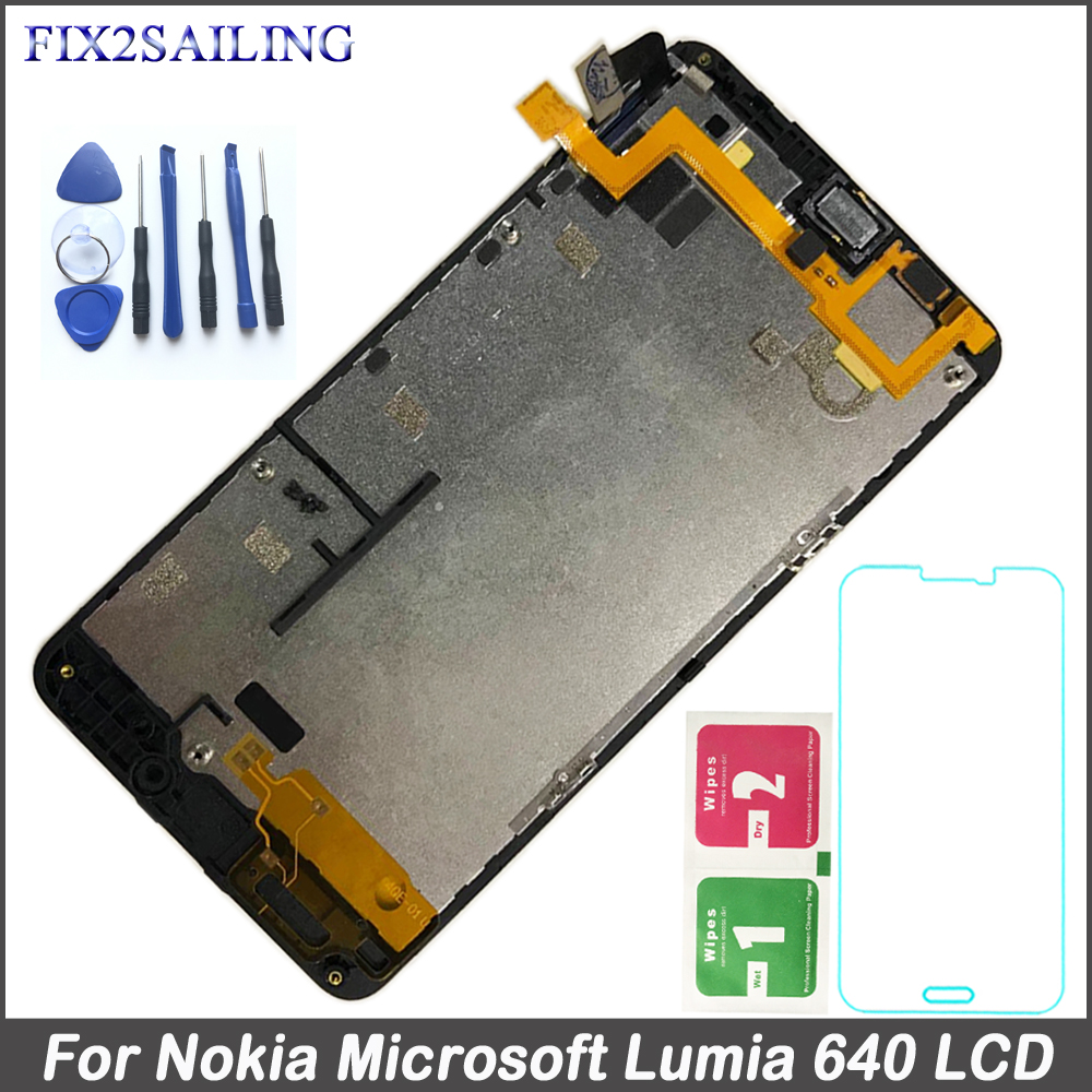Fix2sailing For Microsoft Nokia Lumia 640 RM-1075 RM-1077 RM-1109 RM-1113 LCD Display Touch Screen Digitizer Assembly with FrameFix2sailing For Microsoft Nokia Lumia 640 RM-1075 RM-1077 RM-1109 RM-1113 LCD Display Touch Screen Digitizer Assembly with Frame