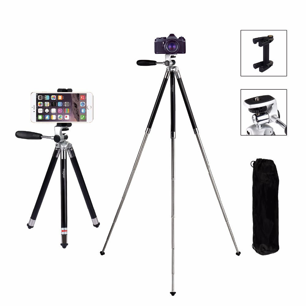 Aluminum Mini Tripod For Phone With Clip Bluetooth Camera Stand For IPhone Xiaomi Huawei Smartphone Gopro Accessories