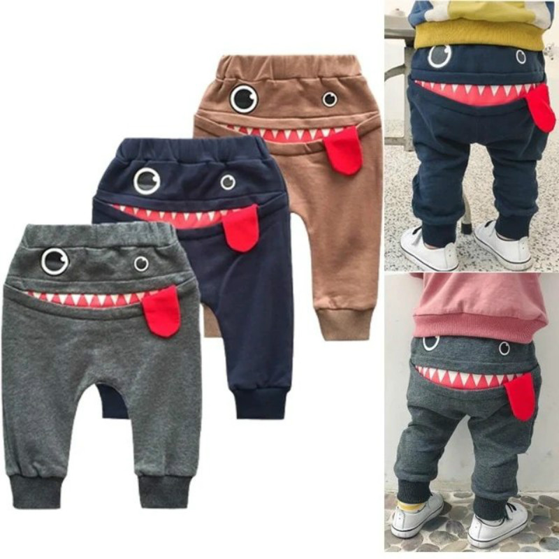 New Baby Kids Cute Whale Patterns Children Spring Autumn Cotton Casual Trousers 4 Color Printed Full Length Pants Latest Technology Pants Boys' Baby Clothing
