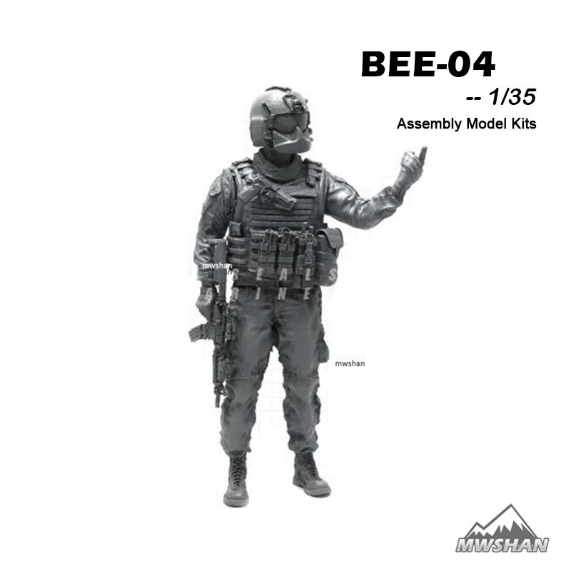 YUFAN 1/35 BEE-04 BEE Series Modern U.S Army Assembly Military Resin Miniatures Model Building Kits