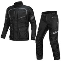 Motorcycle Cold proof Waterproof Jacket RainProof Mens Motocross Touring Adventure Suit Motorcycle Pants with Warm Liner CE Pads