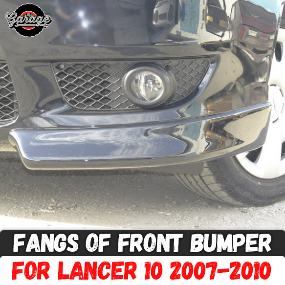Fangs of front bumper for Mitsubishi Lancer 10 2007 2010 ABS 