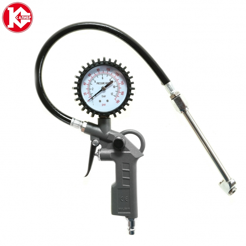 Tire inflation gun Kalibr PPSH-6,0/100P, 100 l/min, 6 bar, connector 1/4 professional solar power car tpms lcd display tire pressure monitoring system with 4 internal sensors bar psi support
