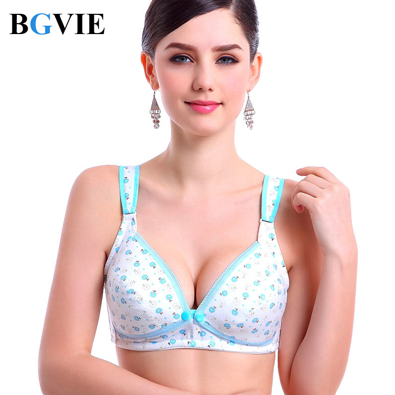 9025dd4f94 BGVIE Coon Wire Free Maternity Bra Tops Breastfeeding Front 3 Buons Comfort  Pregnant Feeding Nursing Bras