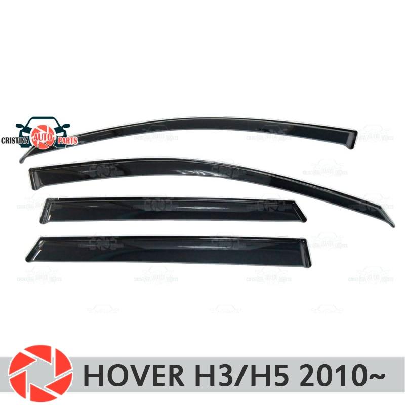 Deflector janela para Great Wall Hover H3/H5 2010 ~ chuva defletor sujeira proteção styling acessórios de decoração do carro de moldagem