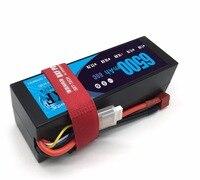 DXF Lipo 4s Battery 14.8V 6500mAh 80C MAX 160C Hard Case For 1:8 1:10 RC Car E Buggy Truggy Traxxas Car