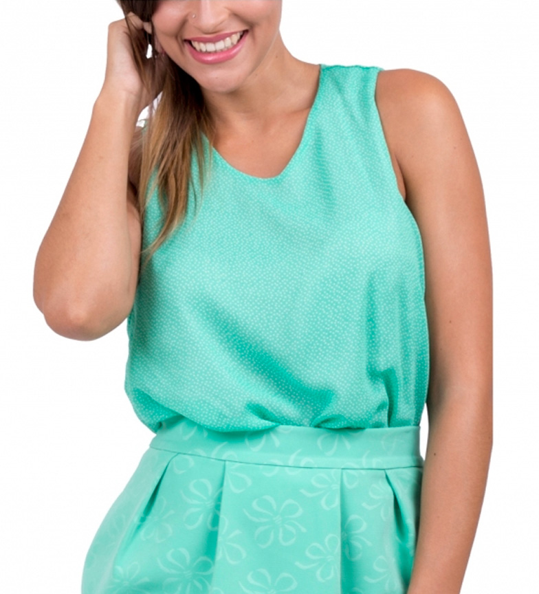 Amarillolimon Green Lexie Blouse-in Blouses & Shirts from ...
