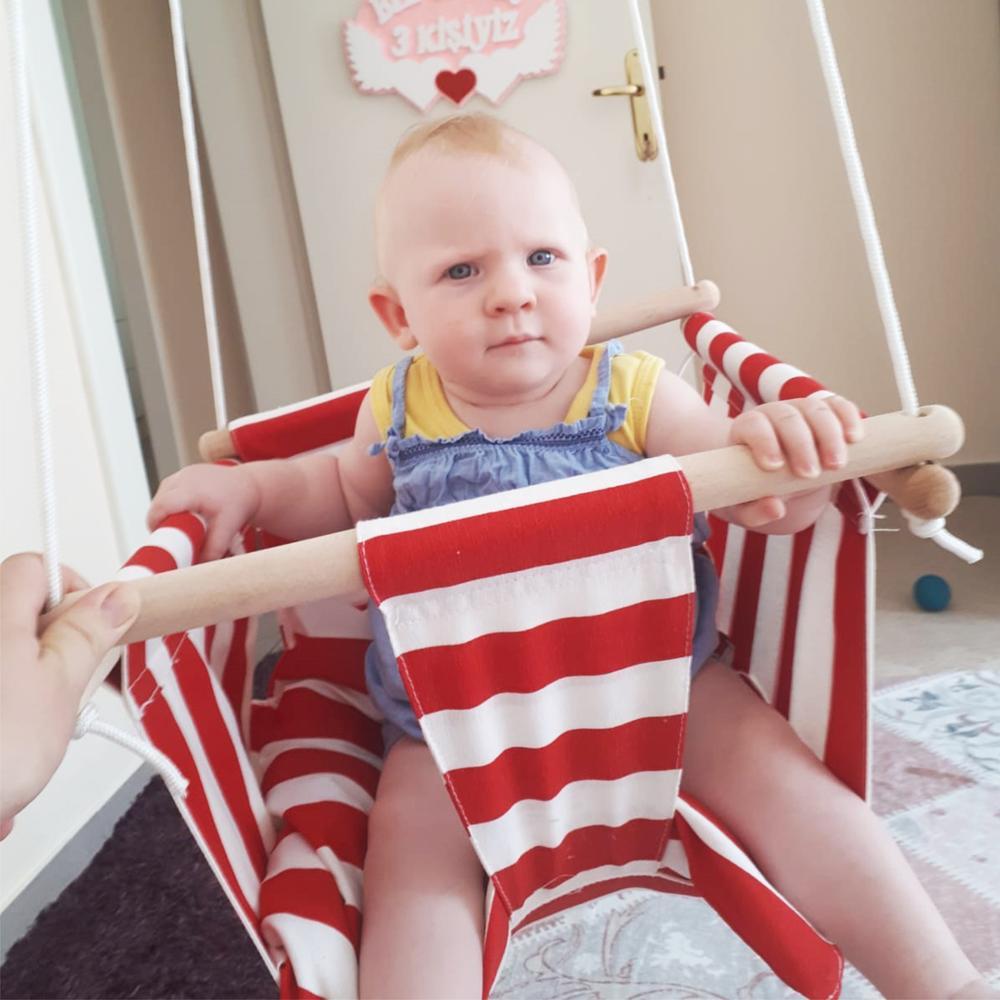 Svava balançoire en bois pour bébé Type de jardin pour enfants-bois extérieur, jardin, arrière-cour, balançoire intérieure