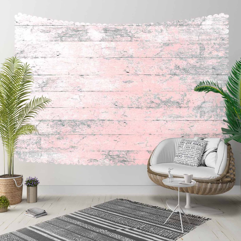 Else Pink Gray Aging Tree Wood Vintage 3D Pattern Print Decorative Hippi Bohemian Wall Hanging Landscape Tapestry Wall Art