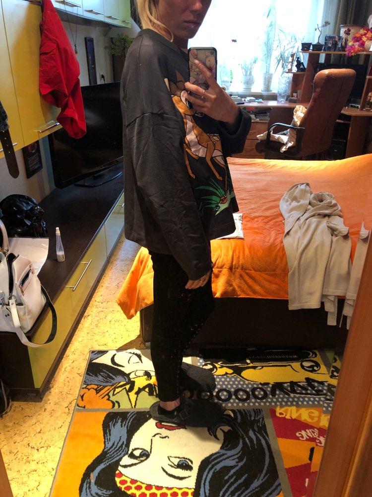 Artsnie Spring  Cartoon Animal Casual Sweatshirts Women O Neck Long Sleeve Streetwear Oversized Hoodie Winter Sweat Female photo review