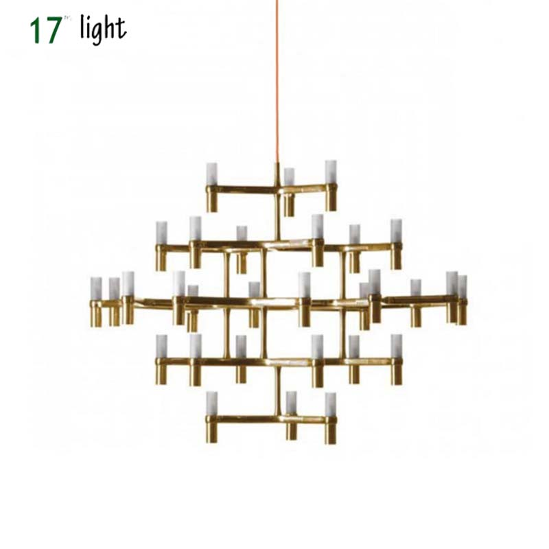 Crown Nemo crown minor chandelier Postmodern Art lighting for hotel living room bedroom Lobby villa stairs Droplight Candle