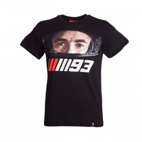MOTO GP 93 MARQUEZ HEAD Motorcycle T Shirts MARC Black Tops Jerseys Short Sleeved O Neck