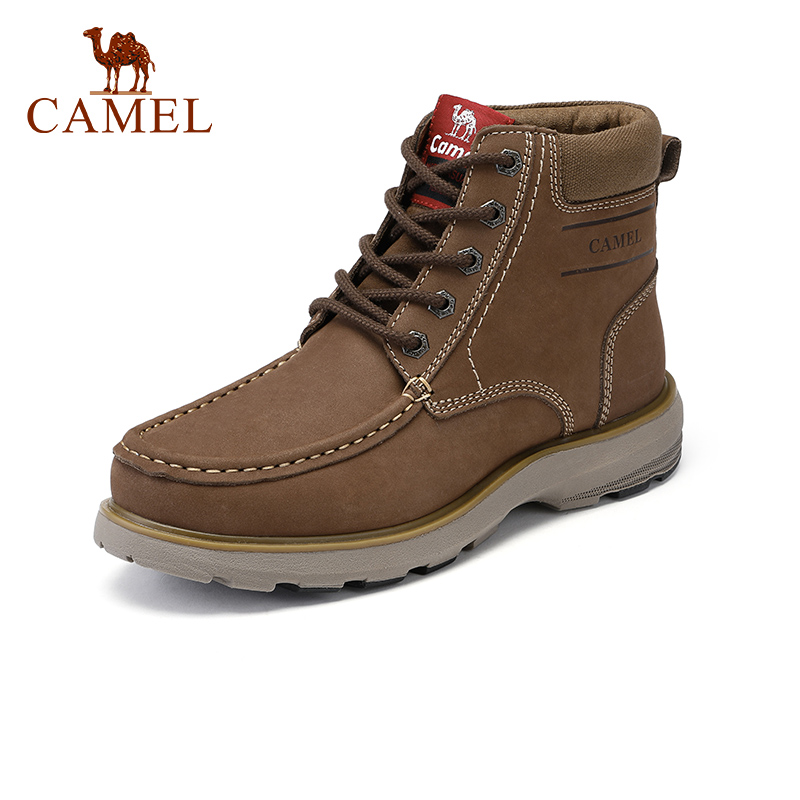 CAMEL New High-fashion Retro Men Boots Genuine Leather Shoes Men England Matte Boots Men Tooling Boot